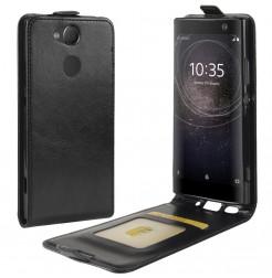 13845 - MadPhone Flip кожен калъф за Sony Xperia XA2