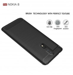 14054 - MadPhone Carbon силиконов кейс за Nokia 8