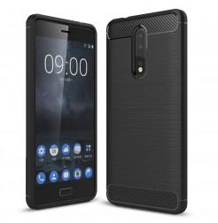 14055 - MadPhone Carbon силиконов кейс за Nokia 8