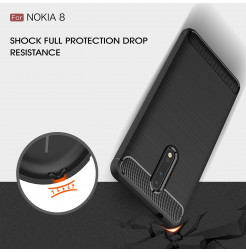 14056 - MadPhone Carbon силиконов кейс за Nokia 8