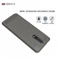 14066 - MadPhone Carbon силиконов кейс за Nokia 8