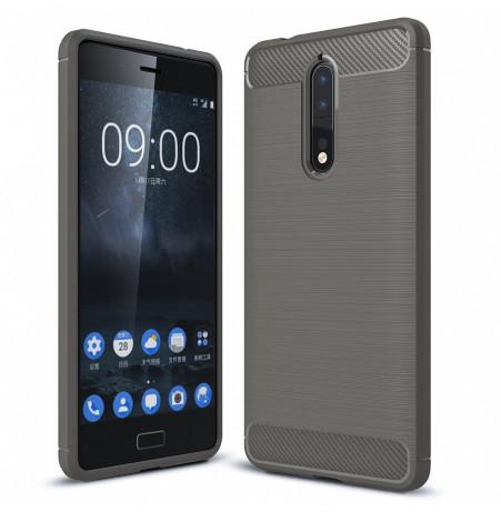14067 - MadPhone Carbon силиконов кейс за Nokia 8