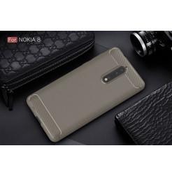 14070 - MadPhone Carbon силиконов кейс за Nokia 8