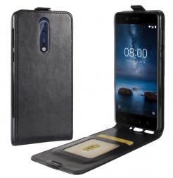 14124 - MadPhone Flip кожен калъф за Nokia 8