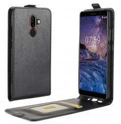 14401 - MadPhone Flip кожен калъф за Nokia 7 Plus