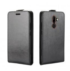 14402 - MadPhone Flip кожен калъф за Nokia 7 Plus