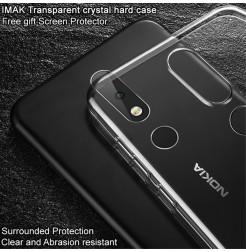 14449 - IMAK Crystal Case тънък твърд гръб за Nokia 6.1 Plus / X6