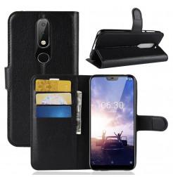 14455 - MadPhone кожен калъф за Nokia 6.1 Plus / X6