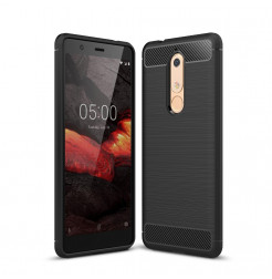 14629 - MadPhone Carbon силиконов кейс за Nokia 5.1