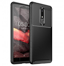 14640 - iPaky Carbon силиконов кейс калъф за Nokia 5.1