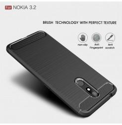 14759 - MadPhone Carbon силиконов кейс за Nokia 3.2