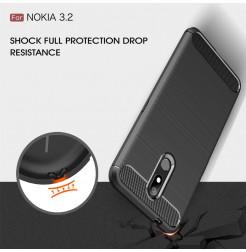 14760 - MadPhone Carbon силиконов кейс за Nokia 3.2