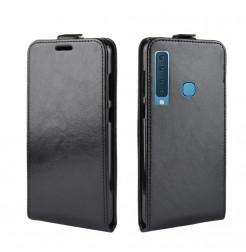 1482 - MadPhone Flip кожен калъф за Samsung Galaxy А9 (2018)