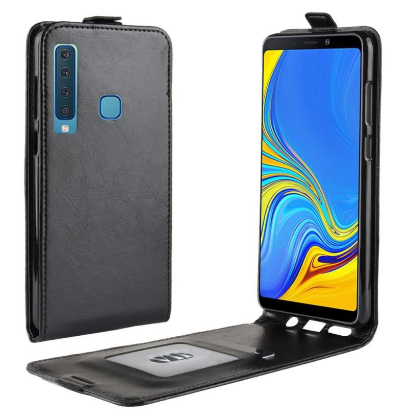 1483 - MadPhone Flip кожен калъф за Samsung Galaxy А9 (2018)