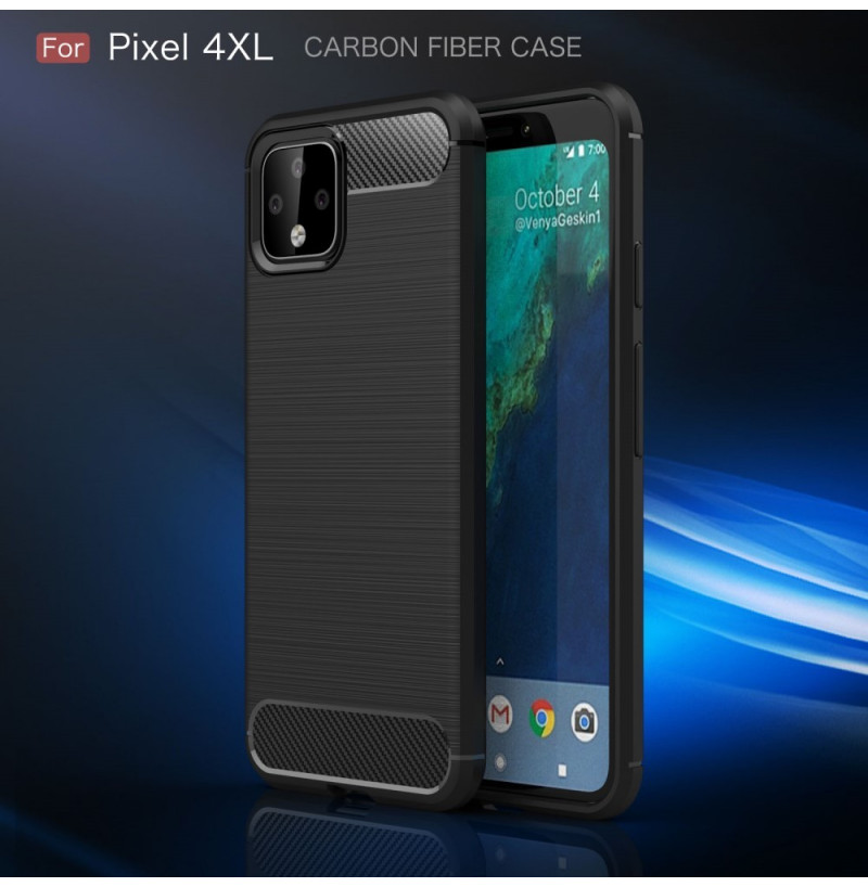14981 - MadPhone Carbon силиконов кейс за Google Pixel 4 XL