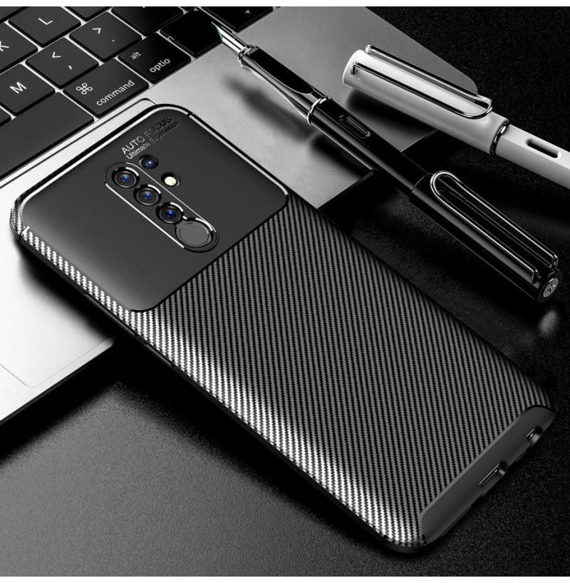 15066 - iPaky Carbon силиконов кейс калъф за Xiaomi Redmi 9