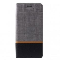 1510 - MadPhone Duo калъф от кожа и текстил за Samsung Galaxy A9 (2018)