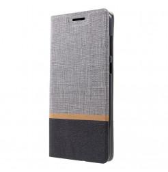 1512 - MadPhone Duo калъф от кожа и текстил за Samsung Galaxy A9 (2018)