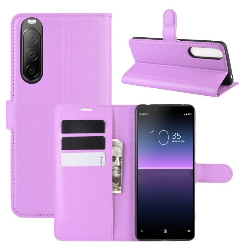 15191 - MadPhone кожен калъф за Sony Xperia 10 II
