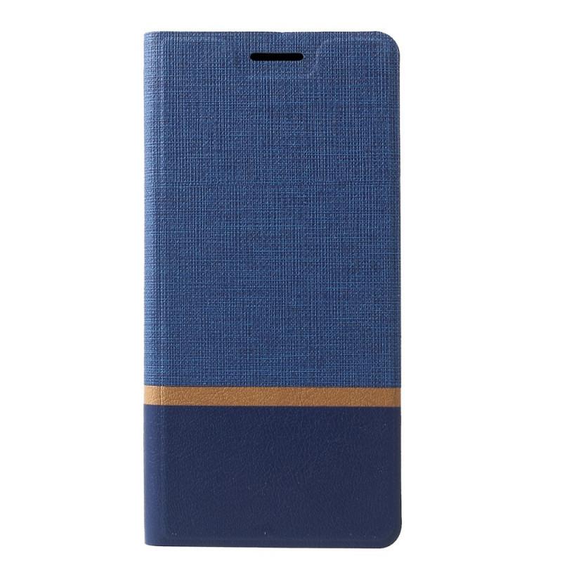 1520 - MadPhone Duo калъф от кожа и текстил за Samsung Galaxy A9 (2018)