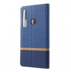 1521 - MadPhone Duo калъф от кожа и текстил за Samsung Galaxy A9 (2018)