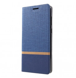 1522 - MadPhone Duo калъф от кожа и текстил за Samsung Galaxy A9 (2018)
