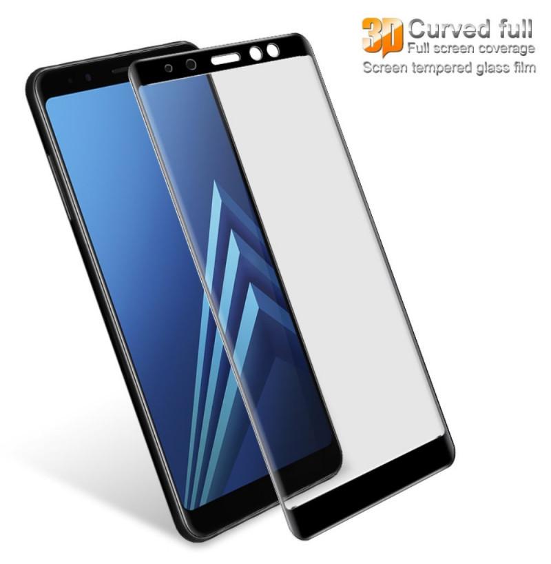 1566 - 3D стъклен протектор за целия дисплей Samsung Galaxy A8 (2018)
