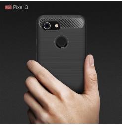15674 - MadPhone Carbon силиконов кейс за Google Pixel 3