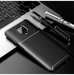 15845 - iPaky Carbon силиконов кейс калъф за Xiaomi Redmi Note 9S / 9 Pro / Max