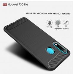 16145 - MadPhone Carbon силиконов кейс за Huawei P30 Lite