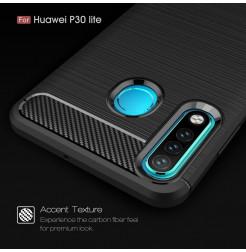 16146 - MadPhone Carbon силиконов кейс за Huawei P30 Lite