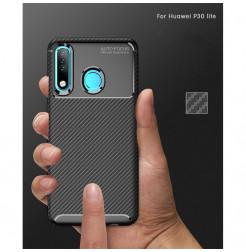 16156 - iPaky Carbon силиконов кейс калъф за Huawei P30 Lite