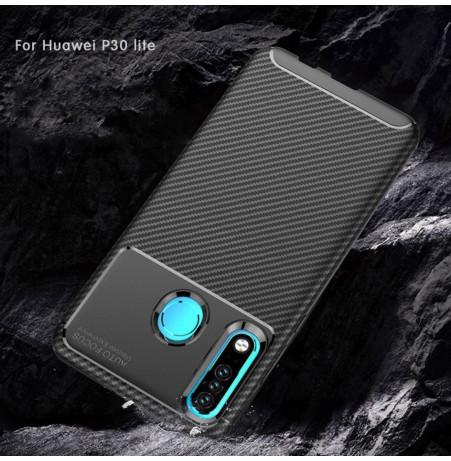 16158 - iPaky Carbon силиконов кейс калъф за Huawei P30 Lite