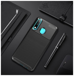 16160 - iPaky Carbon силиконов кейс калъф за Huawei P30 Lite