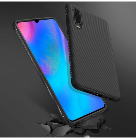 16476 - MadPhone релефен TPU калъф за Huawei P30