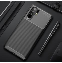 16887 - iPaky Carbon силиконов кейс калъф за Huawei P30 Pro