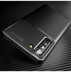 17117 - iPaky Carbon силиконов кейс калъф за Motorola Edge