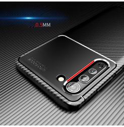 17121 - iPaky Carbon силиконов кейс калъф за Motorola Edge