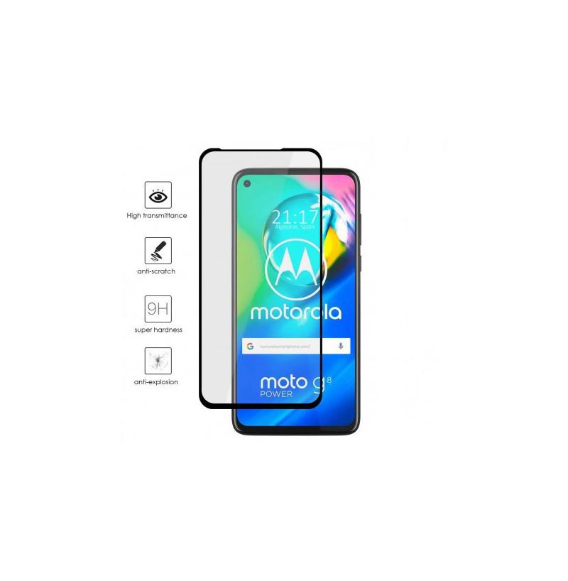 17302 - 3D стъклен протектор за целия дисплей Motorola Moto G8 Power