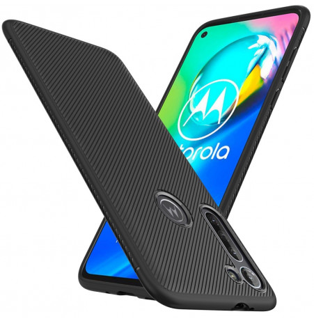 17312 - MadPhone релефен TPU калъф за Motorola Moto G8 Power