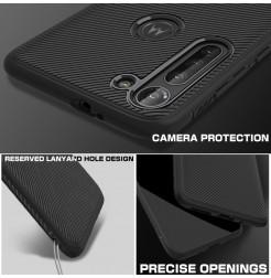17314 - MadPhone релефен TPU калъф за Motorola Moto G8 Power