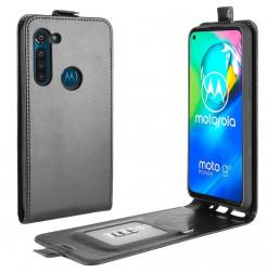 17459 - MadPhone Flip кожен калъф за Motorola Moto G8 Power