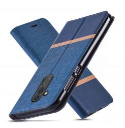 19224 - MadPhone Duo калъф от кожа и текстил за Huawei Mate 20 Lite