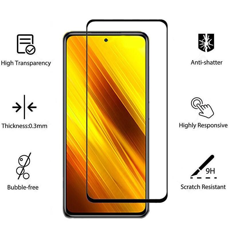 19505 - 3D стъклен протектор за целия дисплей Xiaomi Poco X3 NFC