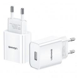 19518 - Usams T18 зарядно 220V USB 2.1A