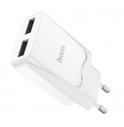 19525 - Hoco CA52 зарядно с две USB 220V USB 2.1A
