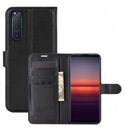 20209 - MadPhone Classic кожен калъф за Sony Xperia 5 II