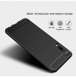 2049 - MadPhone Carbon силиконов кейс за Samsung Galaxy A7 (2018)