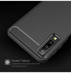 2050 - MadPhone Carbon силиконов кейс за Samsung Galaxy A7 (2018)