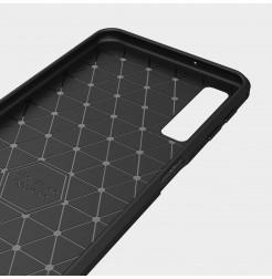 2052 - MadPhone Carbon силиконов кейс за Samsung Galaxy A7 (2018)